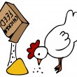 Chicken Feed — Stockvectorbeeld