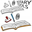 Notary Service Tools — Stock Vector