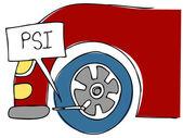 PSI Tire Pressure — Stock Vector