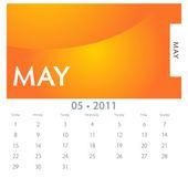 May Calendar — Stock Vector