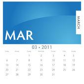 Calendario marzo — Vector de stock