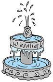 Fountain — Stock Vector