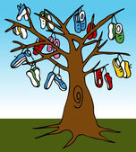 Shoe Tree — Stock Vector