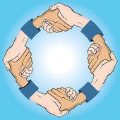 Circular Handshake — Stock Vector