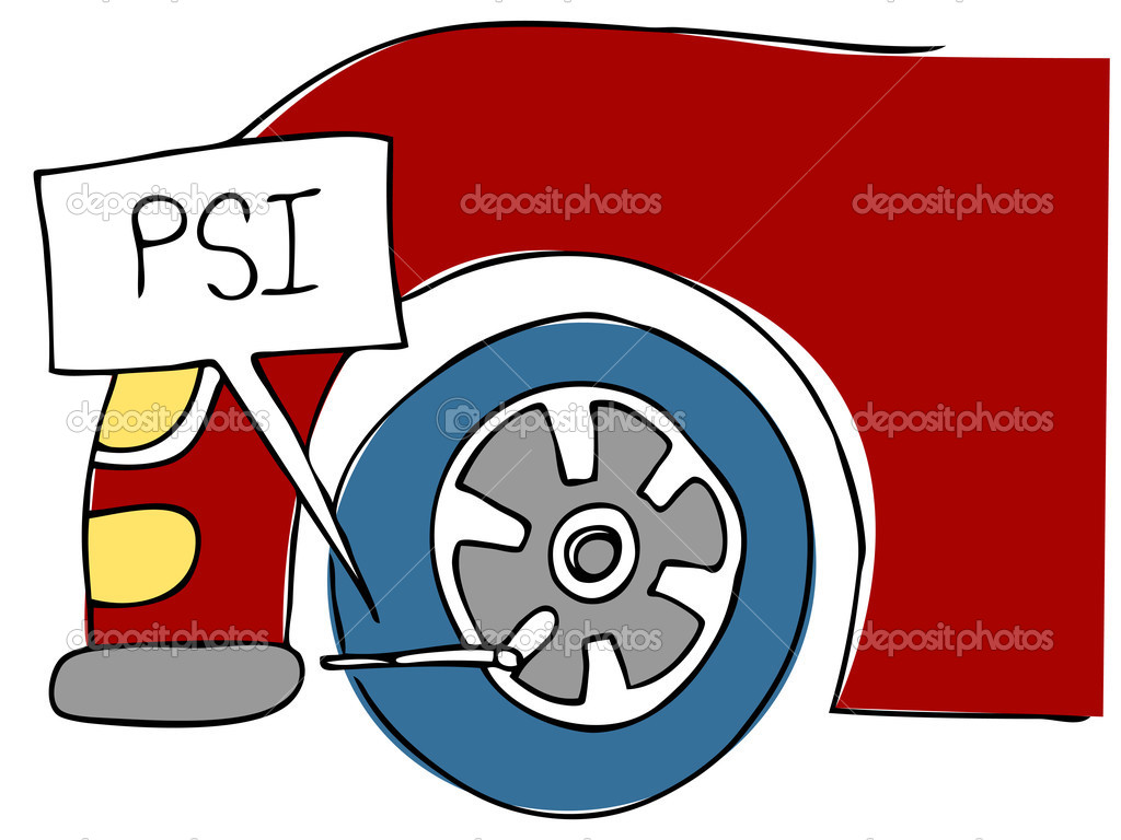 An image of a PSI tire pressure.  Stock Vector #4654467