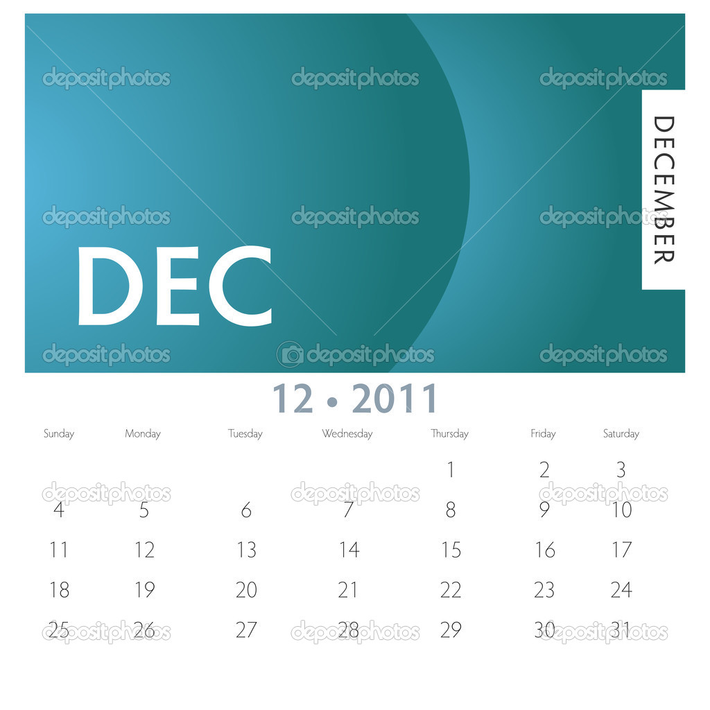 An image of a 2011 December calendar. — Stock Vector #4654475