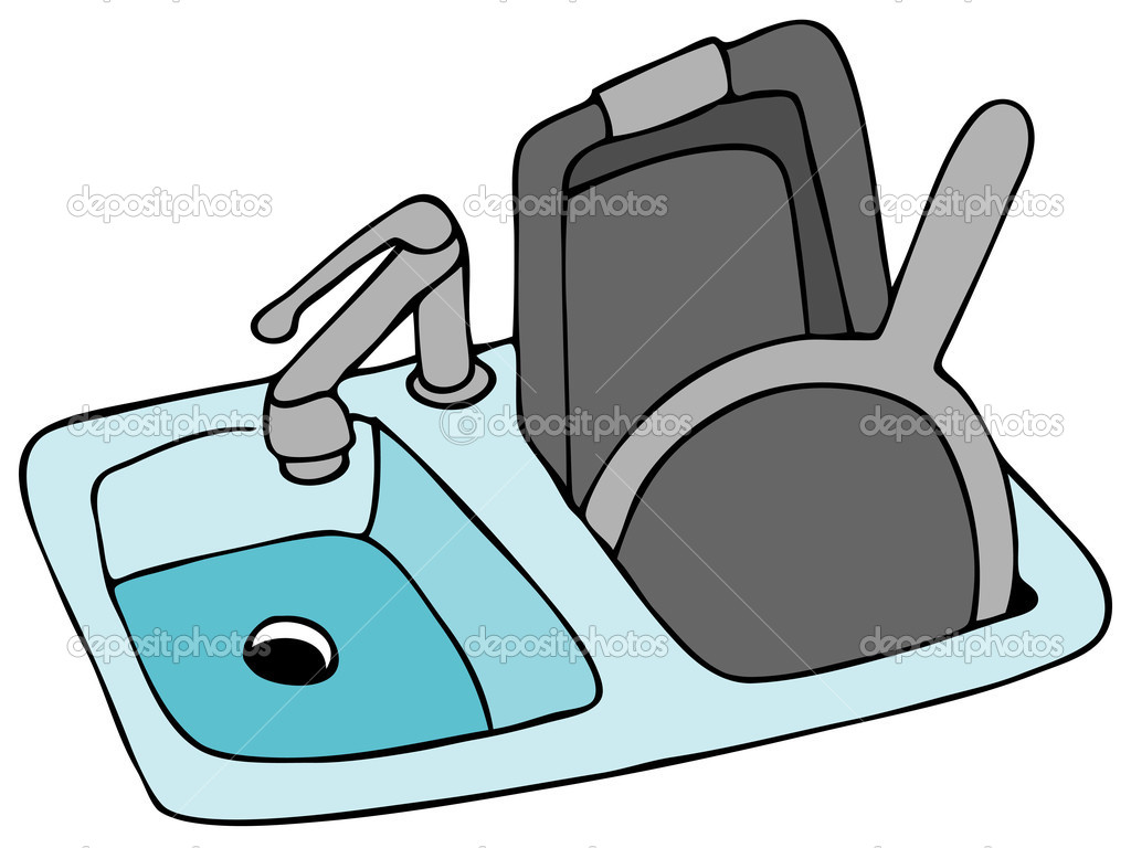 Cartoon Kitchen Sink ~ Kitchen sink clip art modern home house design ideas