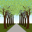 Money Tree Forest Path — Stock Vector