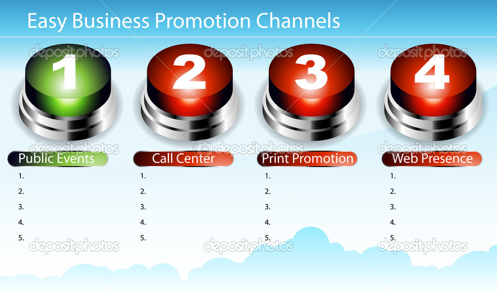 An image of an easy business promotion chart. — 图库矢量图片 #5001979