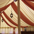 Inside a marquee — Stock Photo