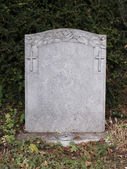 Single grave stone — Stock Photo