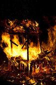 Burning garbage — Stock Photo