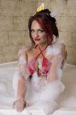 Hottie in the bath — Stock Photo