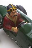 Vintage car driver — Stock Photo