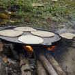 Stock Photo: Old fashion tortillas