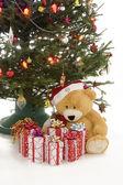 Christmas presents under the tree — Stock Photo