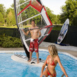 Windsurfer in pool — Stock Photo #4312026