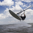 Windsurfer flying in the air — Stock Photo