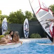Windsurfer in pool — Stock Photo #4312152