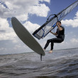 Windsurfer flying in air — Stock Photo #4312290