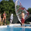 Stock Photo: Windsurfer in pool