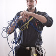 Stock Photo: Entangle technician
