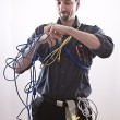 Entangle technician — Stock Photo