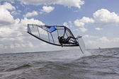 Windsurfer wipe out — Stok fotoğraf