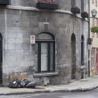 Garbage day in Old Quebec - Stock Photo