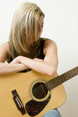 Pondering on music — Stock Photo