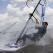 Windsurfer doing a trick — Stock Photo #4352120