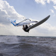 Windsurfer doing a nose landing — Stock Photo #4352125