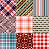 Set colorful geometric seamless patterns (vector EPS 10)