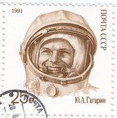 La Russia - Circa 1991: Astronauta russo Yuri Gagarin - primo essere umano nello spazio