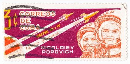 Постер, плакат: Russian astronauts Nikolaev and Popovich, холст на подрамнике
