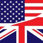 Постер, плакат: Usa british flag