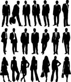 Collection of business in silhouette in different poses