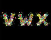 Ábécé, virág rajzolatú. Lásd még: irodalom-ban az én-m g