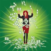 Üzletasszony fogások pénz