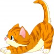 thumbnail of Cute red hair Cat stretching