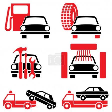 Постер, плакат: Services auto, холст на подрамнике