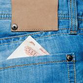 Kapsa džíny s bankovkami