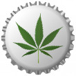 thumbnail of Cannabis leaf on bottle cap over white