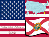 Florida state illustration abstract vector art