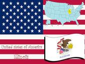 Illinois state illustration abstract vector art