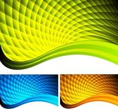 Set of bright abstract banners (eps 10)