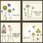 thumbnail of Retro floral cards set