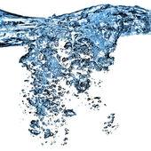 Spruzzata di acqua con le bollicine