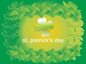 St patrick's day leaves pattern background 17 march
