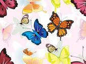 Abstract colorful butterfly pattern background illustration